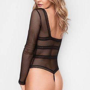 a6e8d321755 Victoria s Secret Intimates   Sleepwear - Victoria s Secret long sleeve  fishnet bodysuit